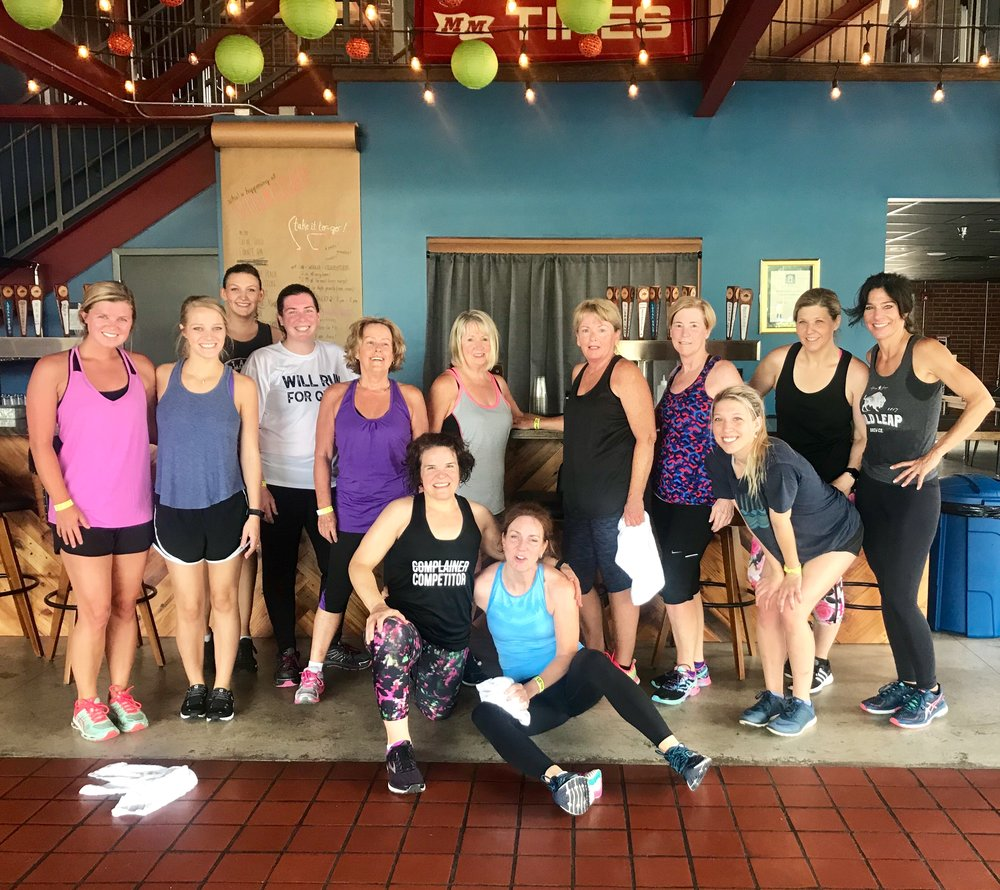 Thank you for joining us for Boot Camp on July 7th! Mary Kate turned this team into Competitors! Come back on July 21st to stretch it out with Yoga!