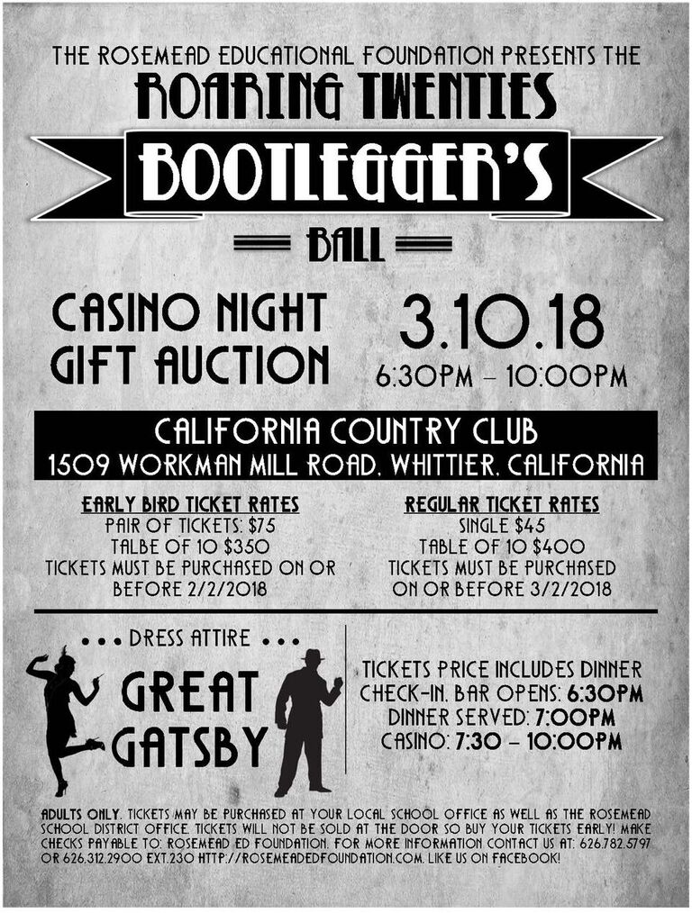 Casino Night - March 10th, 2018