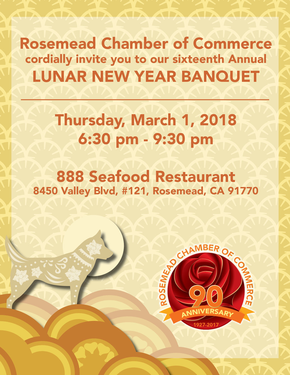 16th Annual Lunar New Year Banquet - March 1st, 2018