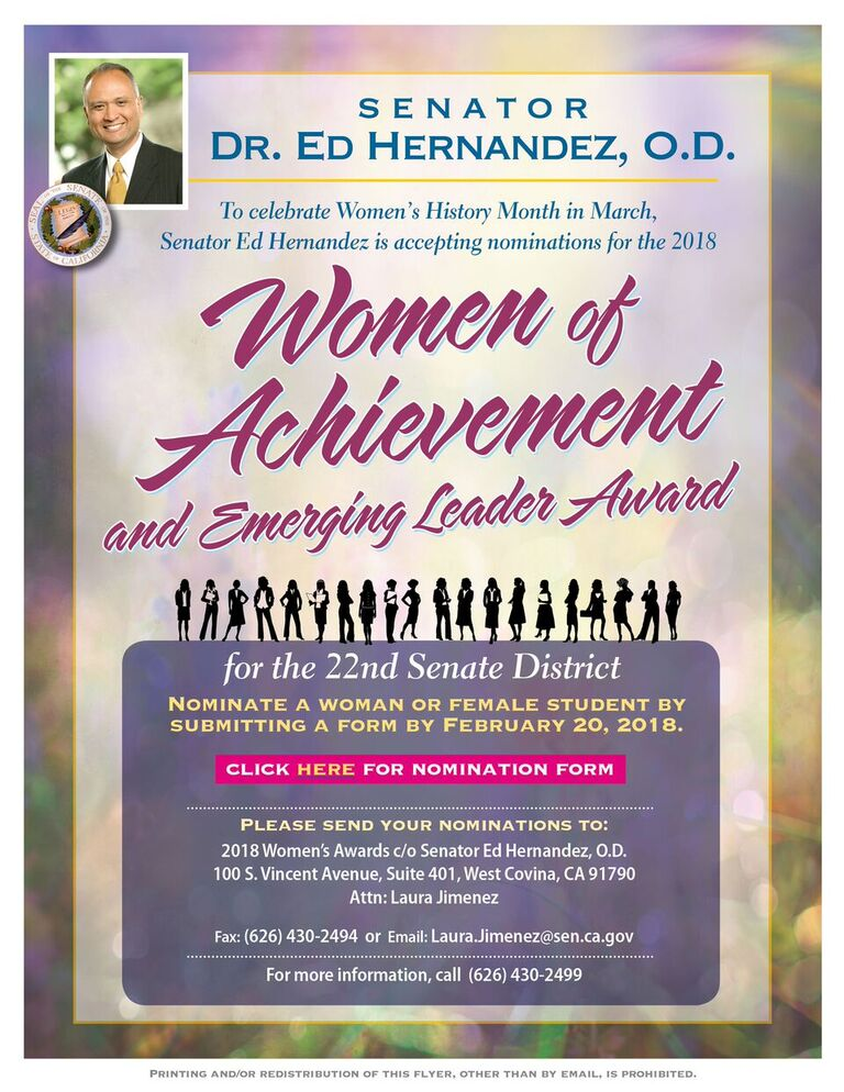 Women's History Month in March - Nominate a woman for the Women of Achievement and Emerging Leader Award