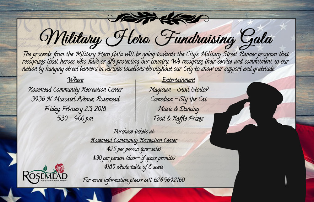 Military Hero Fundraising Gala - February 23rd, 2018