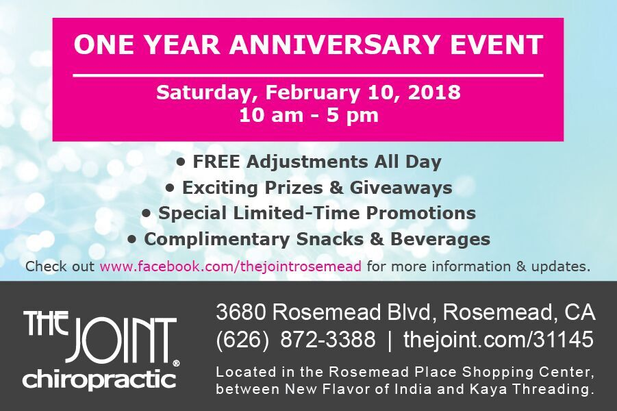 Free Chiropractic Adjustments  - February 10th, 2018