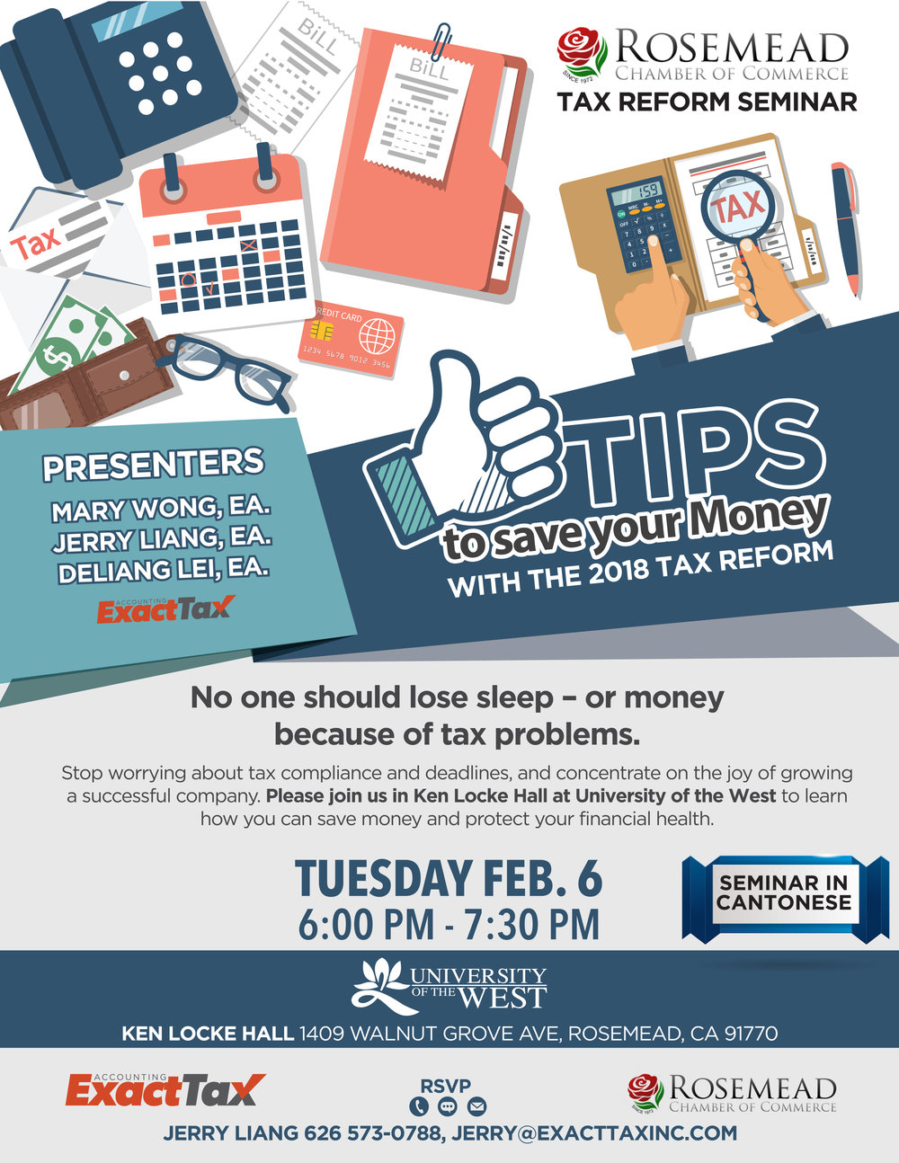 Tax Reform Seminar-Cantonese - February 6th, 2018