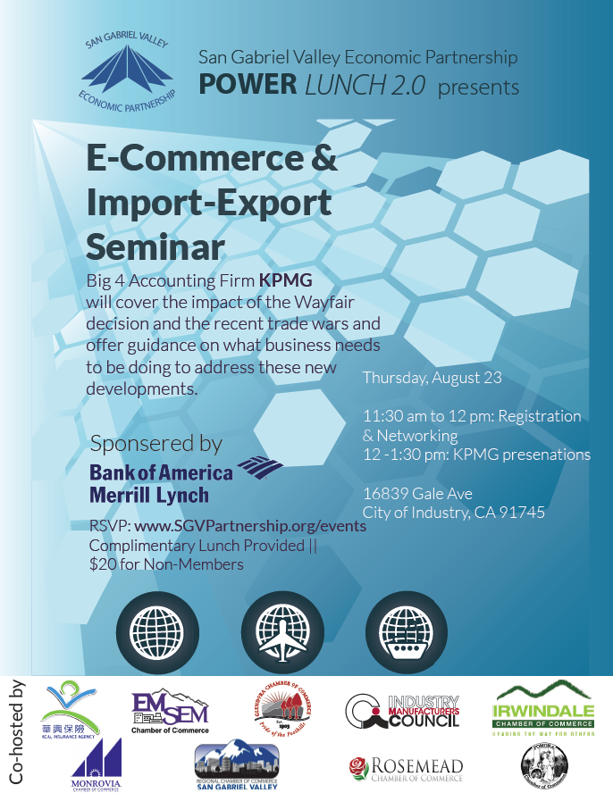 E-Commerce & import-export seminar - August 23rd, 2018