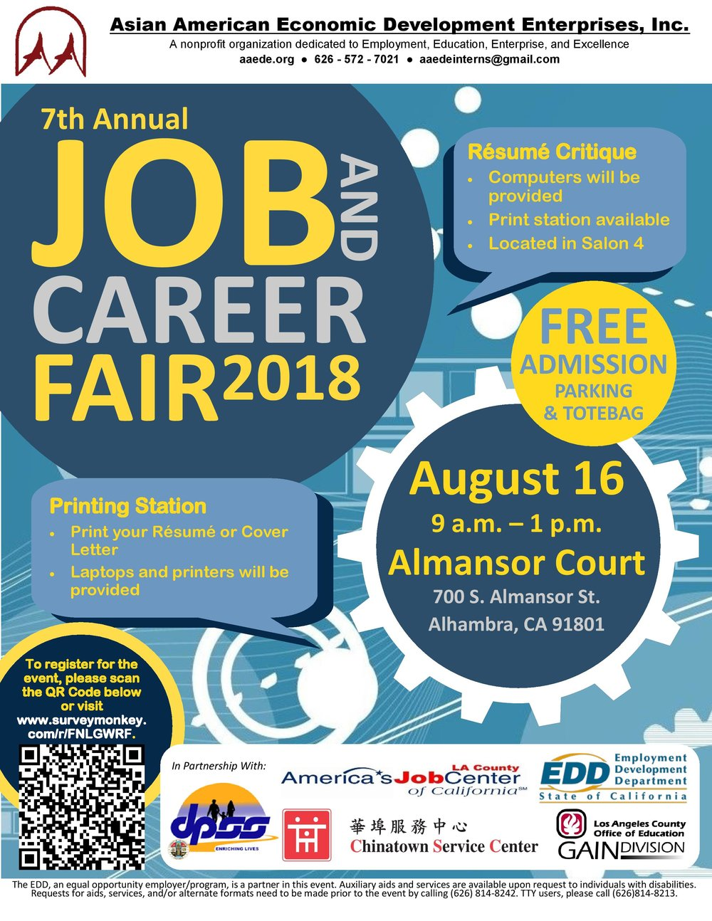 7th annual job and career fair 2018 - August 16th, 2018