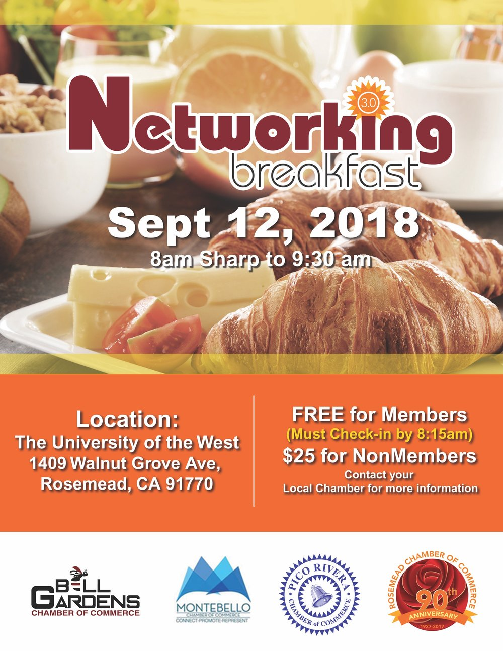 Networking breakfast 3.0 - September 12th, 2018