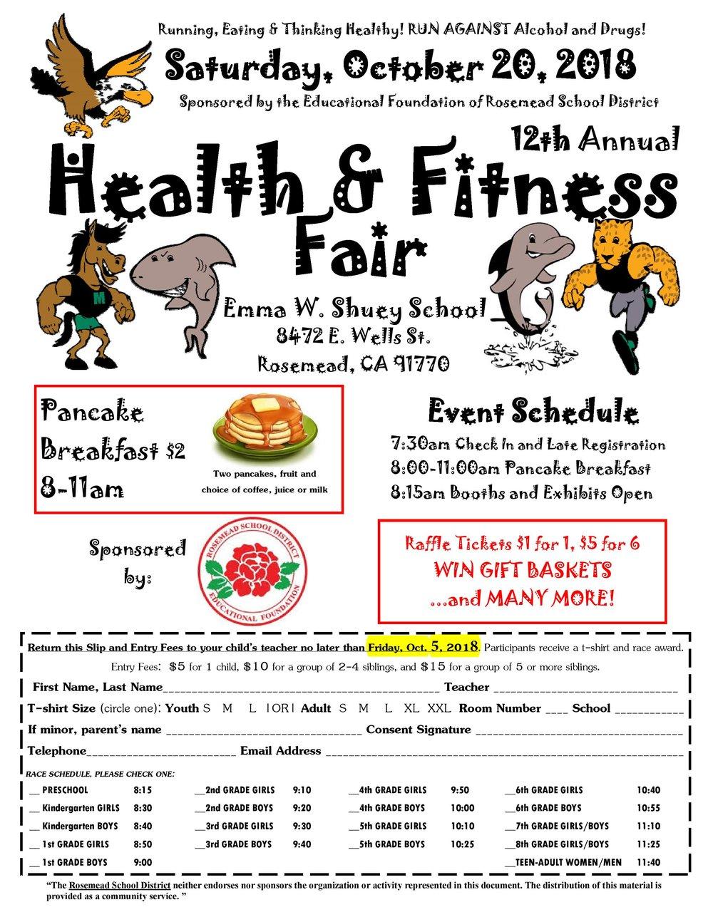 12th annual health & fitness fair - October 20th, 2018