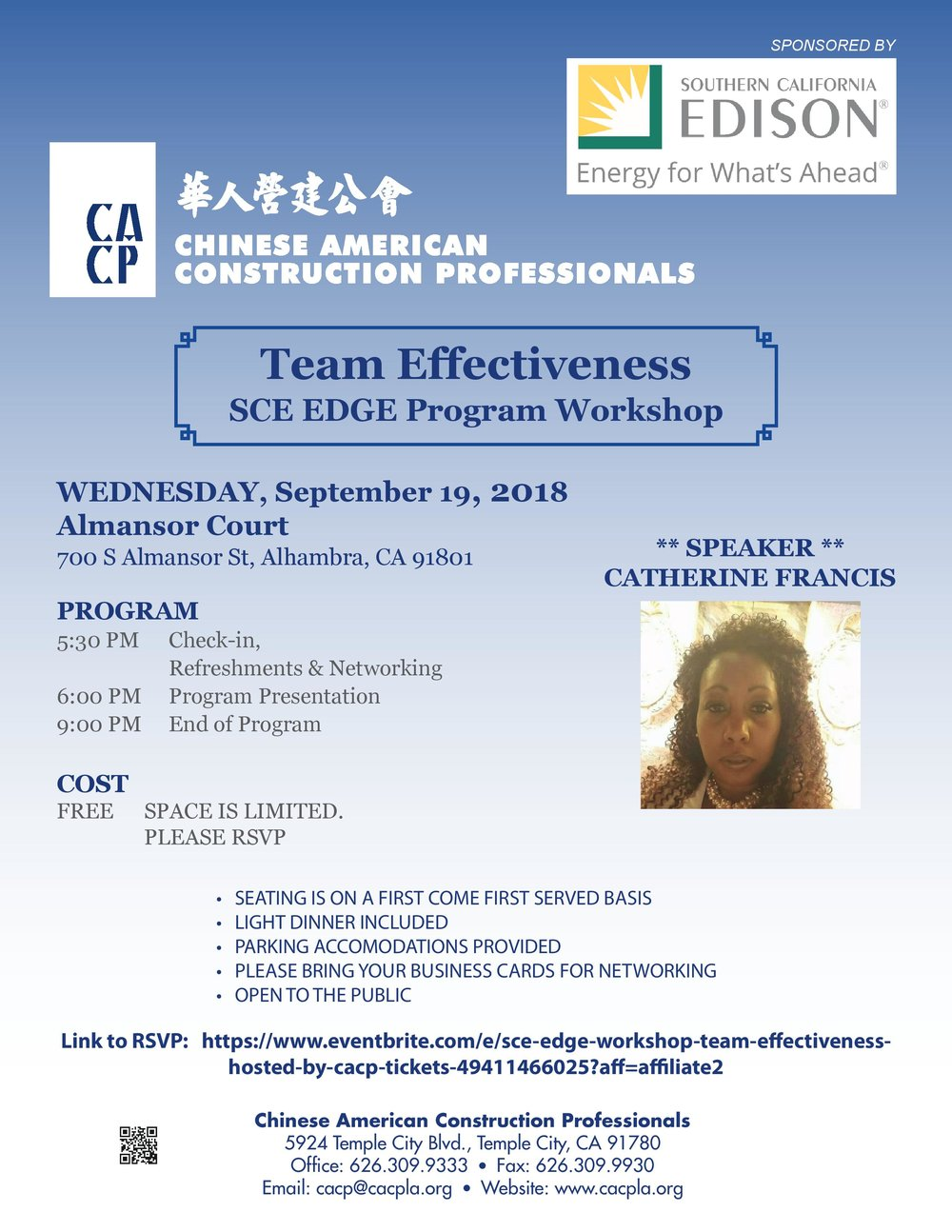 CACP Team Effectiveness sce edge program workshop - September 19th, 2018