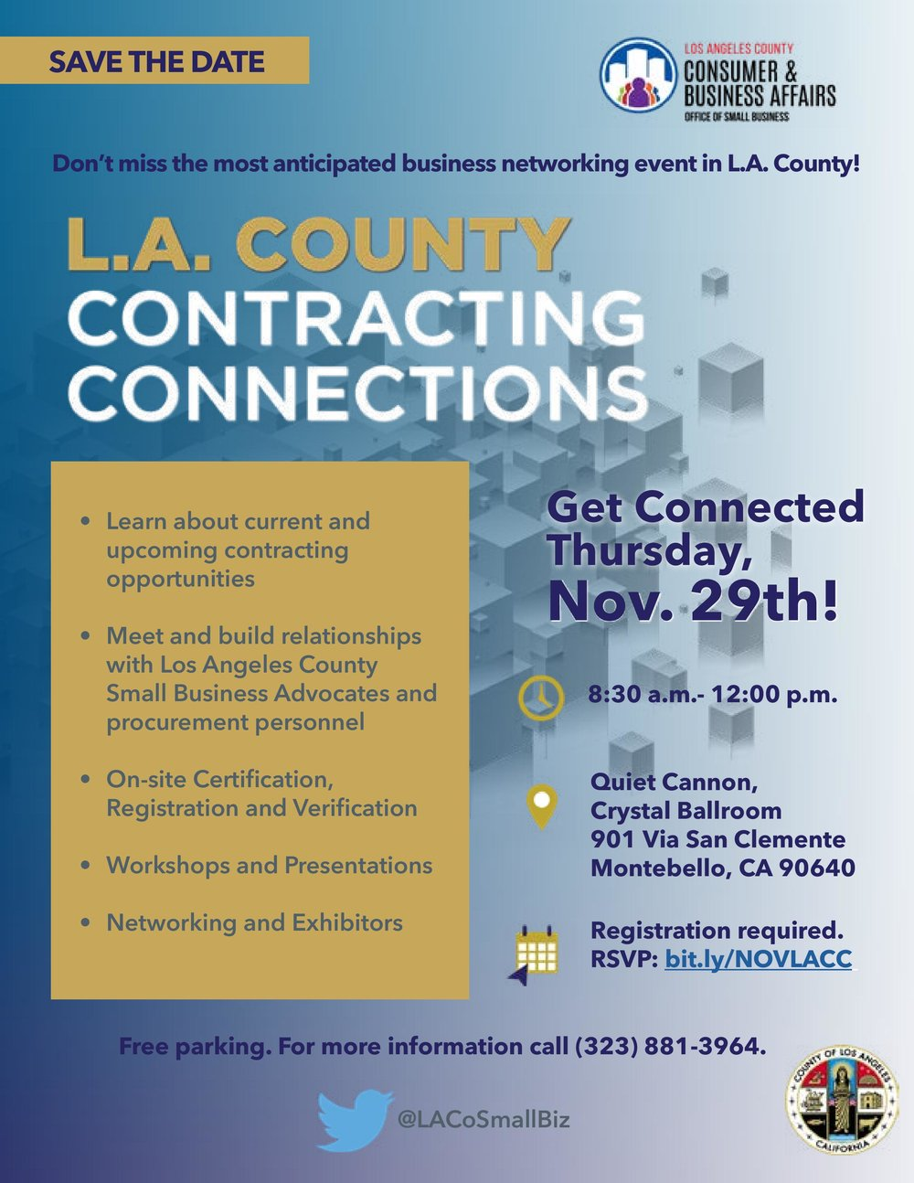 la county contracting connections - November 29th, 2018