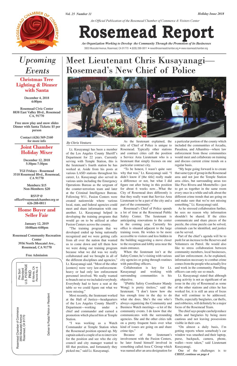 Holiday issue 2018 - Rosemead Report