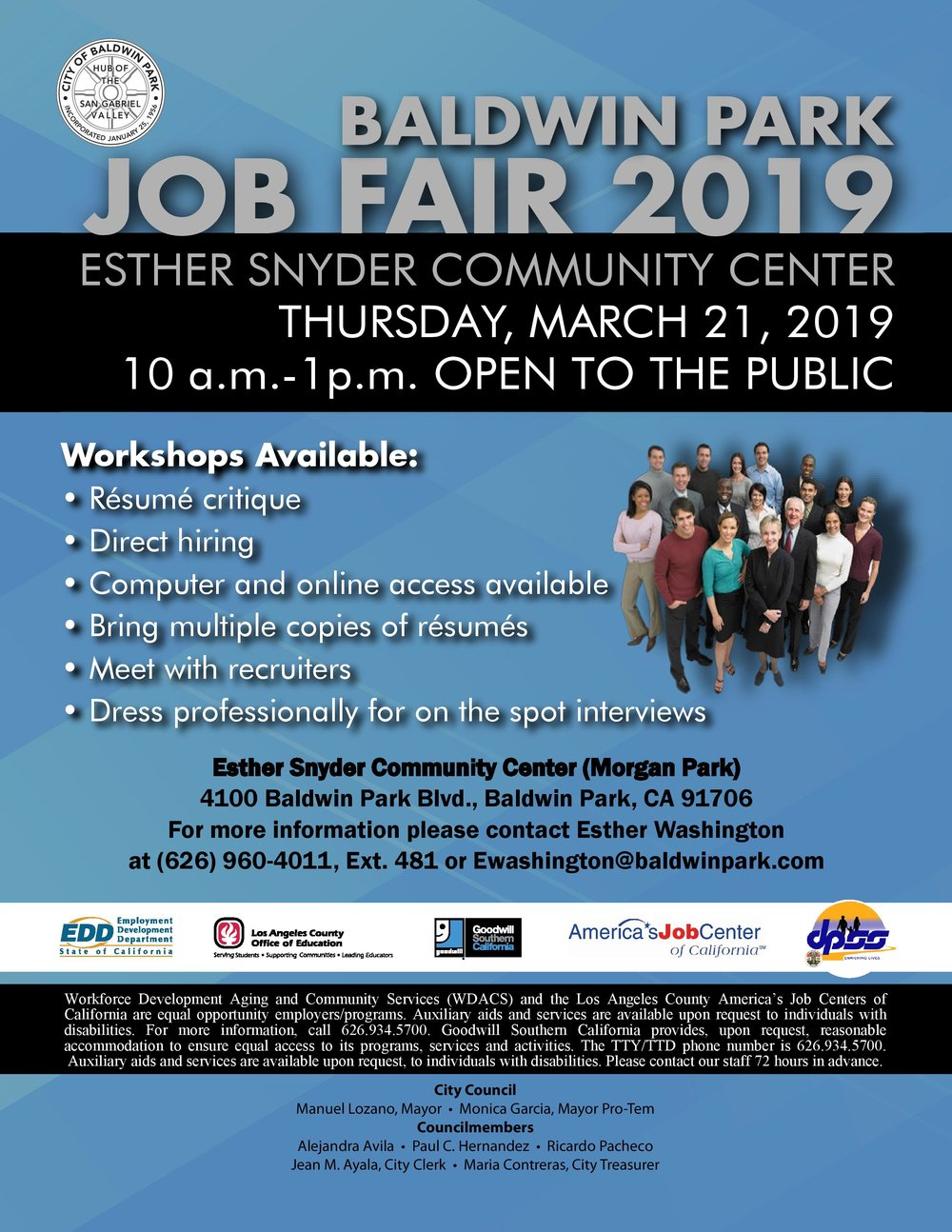 Baldwin park job fair 2019 - March 21st, 2019