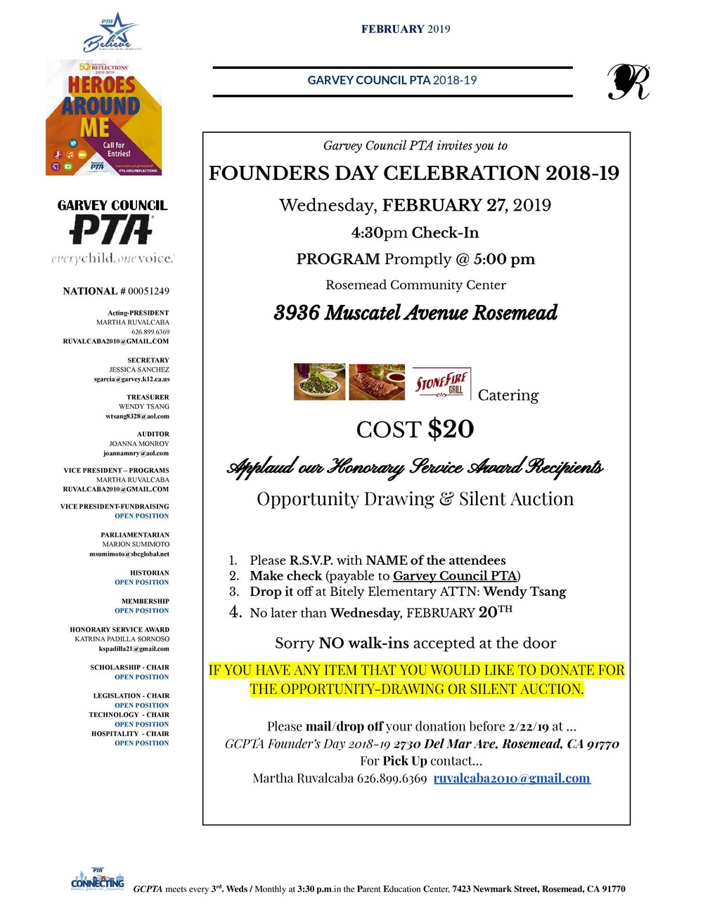 Founders day celebration  - February 27th, 2019