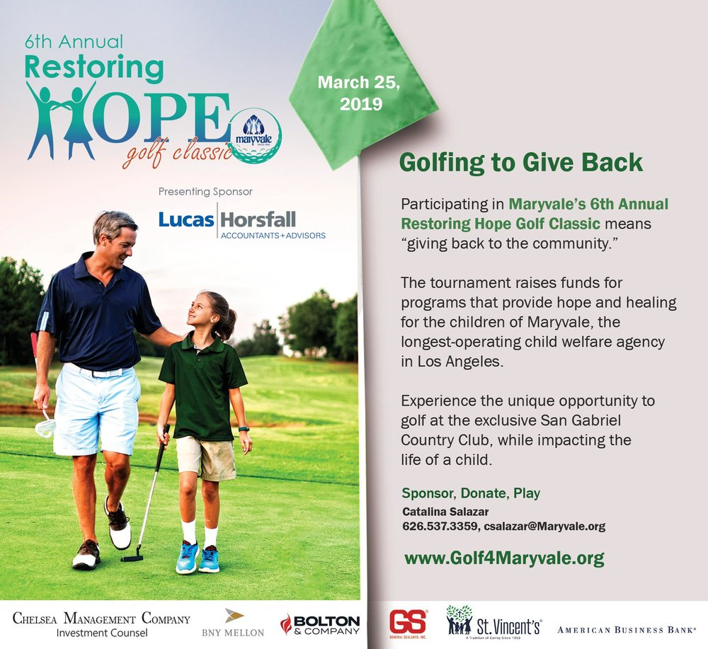 Maryvale 6th annual restoring hope golf classic - March 25th, 2019