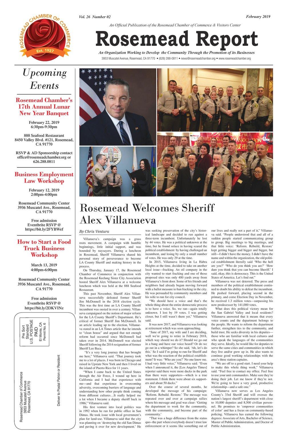 FEBRUARY 2019 - Rosemead Report