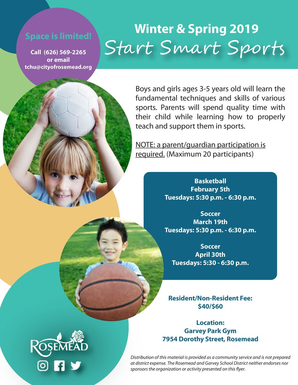 Winter & spring 2019 start smart sports - March 19th, 2019
