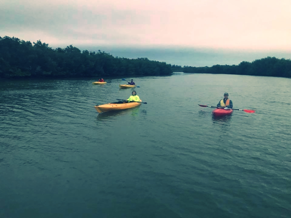 Ocean Tribe Paddlers enjoyed an evening on the water aboard vessels owned by Island Seniors, Inc.