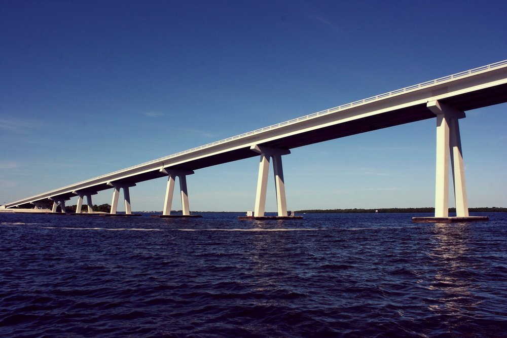 Beautiful bridge views are one benefit of paddling near the causeway islands.