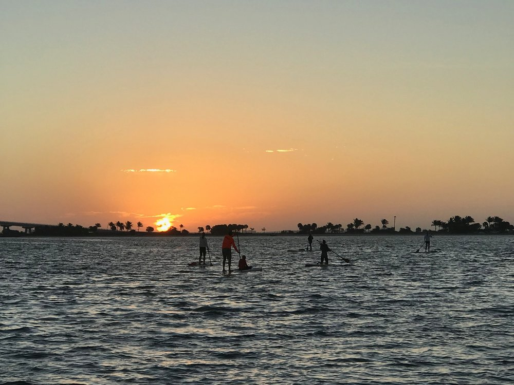 The causeway islands are an ideal location for a sunrise paddle.