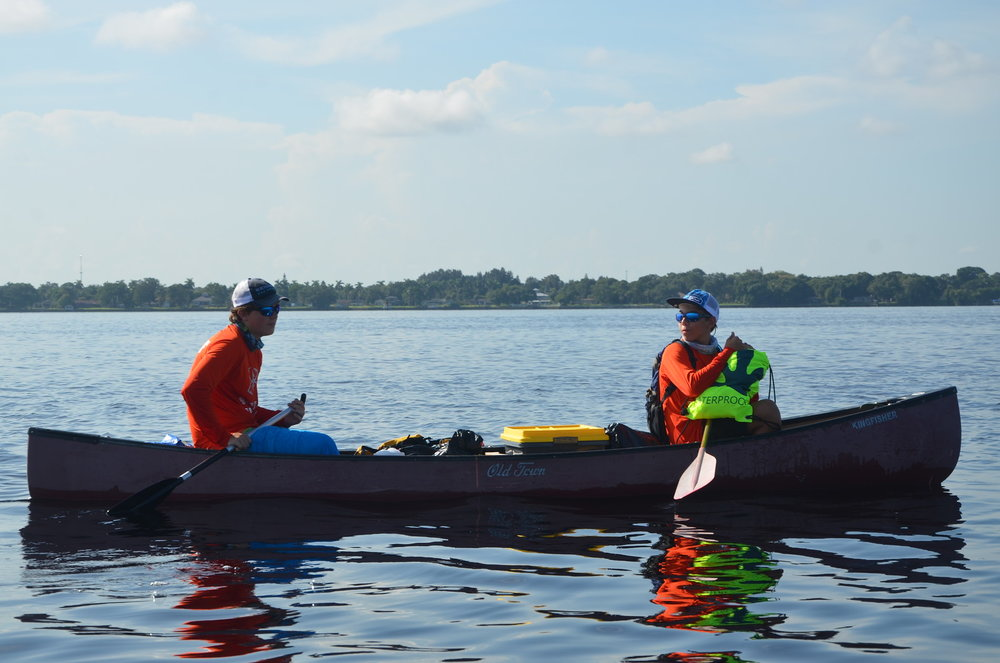 Paddlers on the Caloosahatchee River.