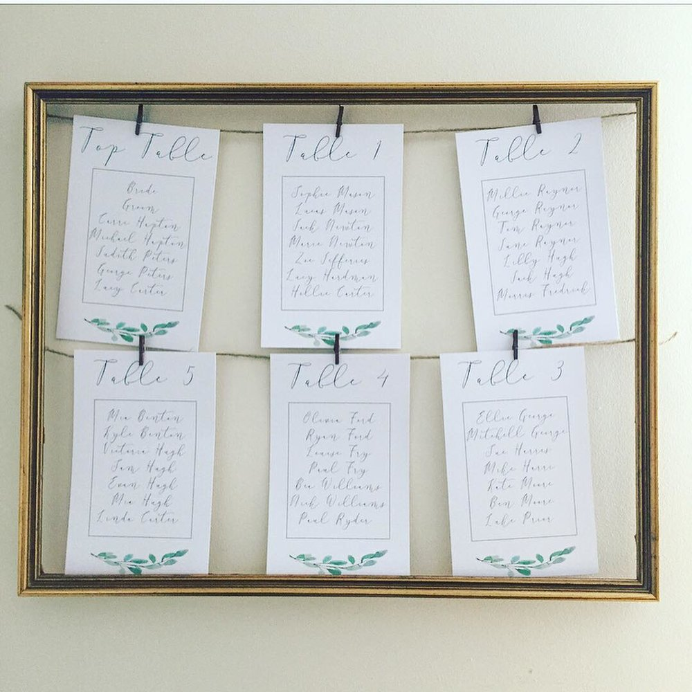 Laura and Daniel - A custom copper frame with botanical cards