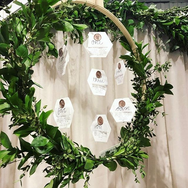 Unique table plan ideas are always a feature! We offer different size hoops and styles to suit your day 🌿