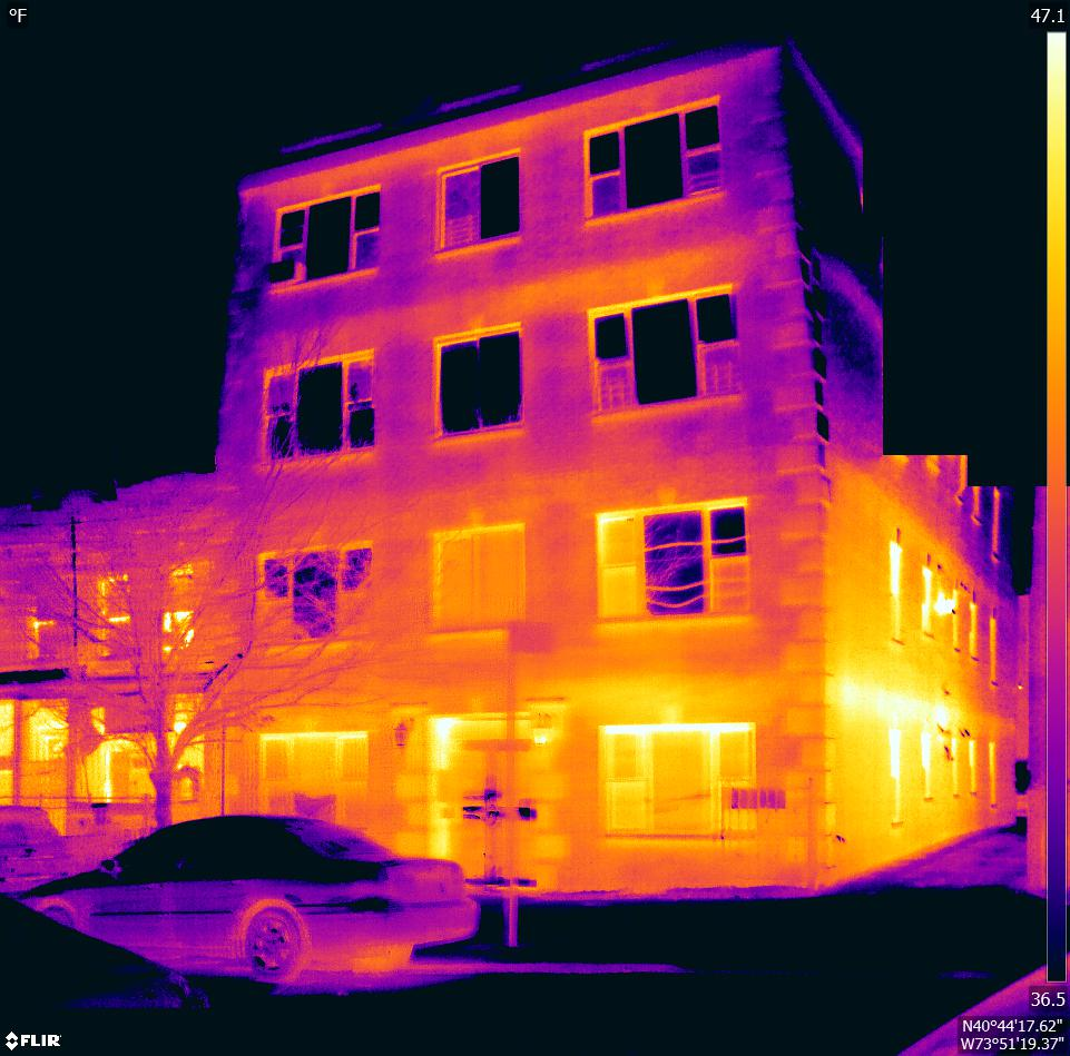 Heat Loss Capture Using Infrared   Y Bird provides aerial thermal imaging and analysis for an external heat loss audit. According to the Department of Energy, 42% of the utility bill in an average home or building is heating.  You can save up to 30% in your heating bill by auditing your home or business for heat loss.