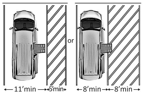 Van Accessible Parking Space Plan View.png