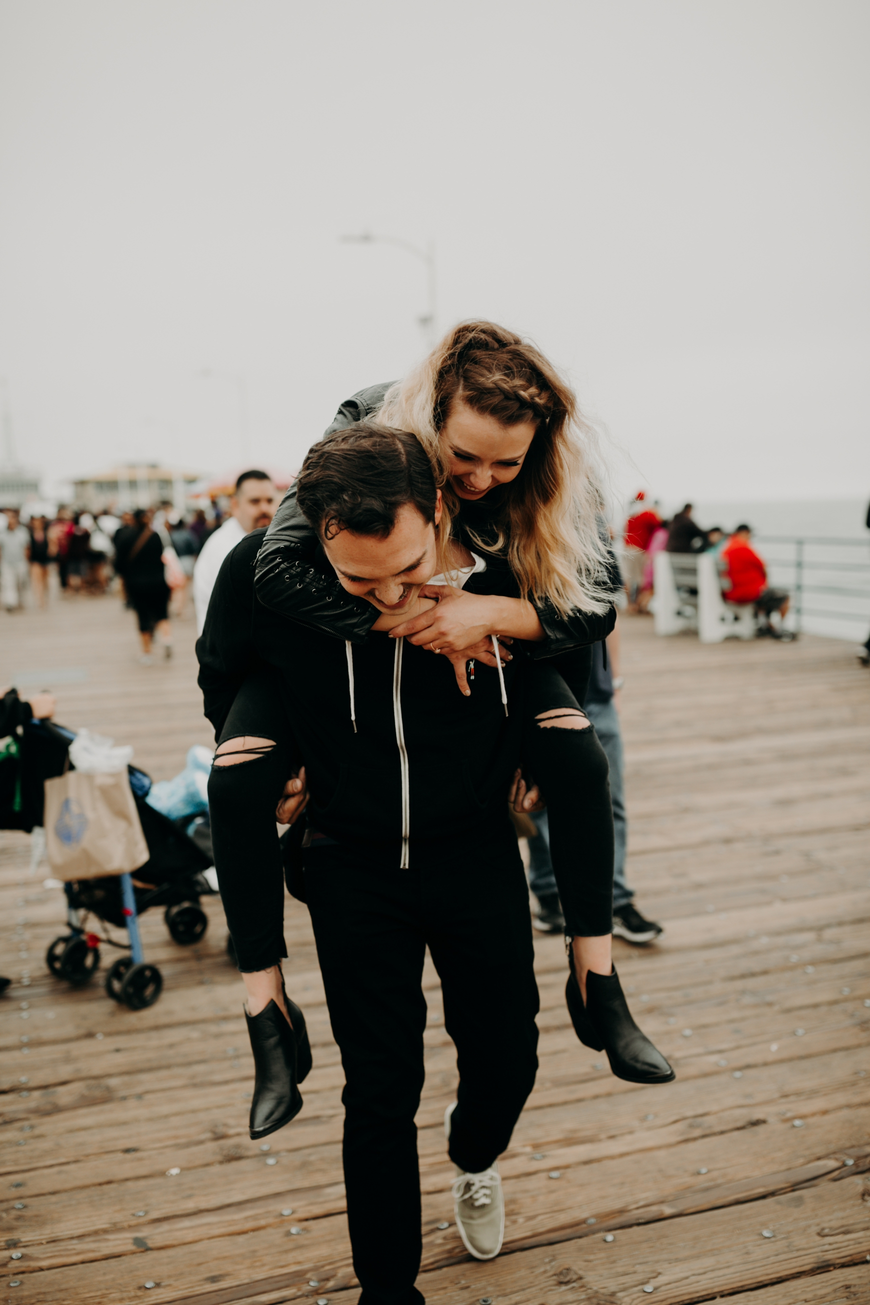 Santa Monica Pier Engagement Loni & Duke Emily Magers Photography-174.jpg