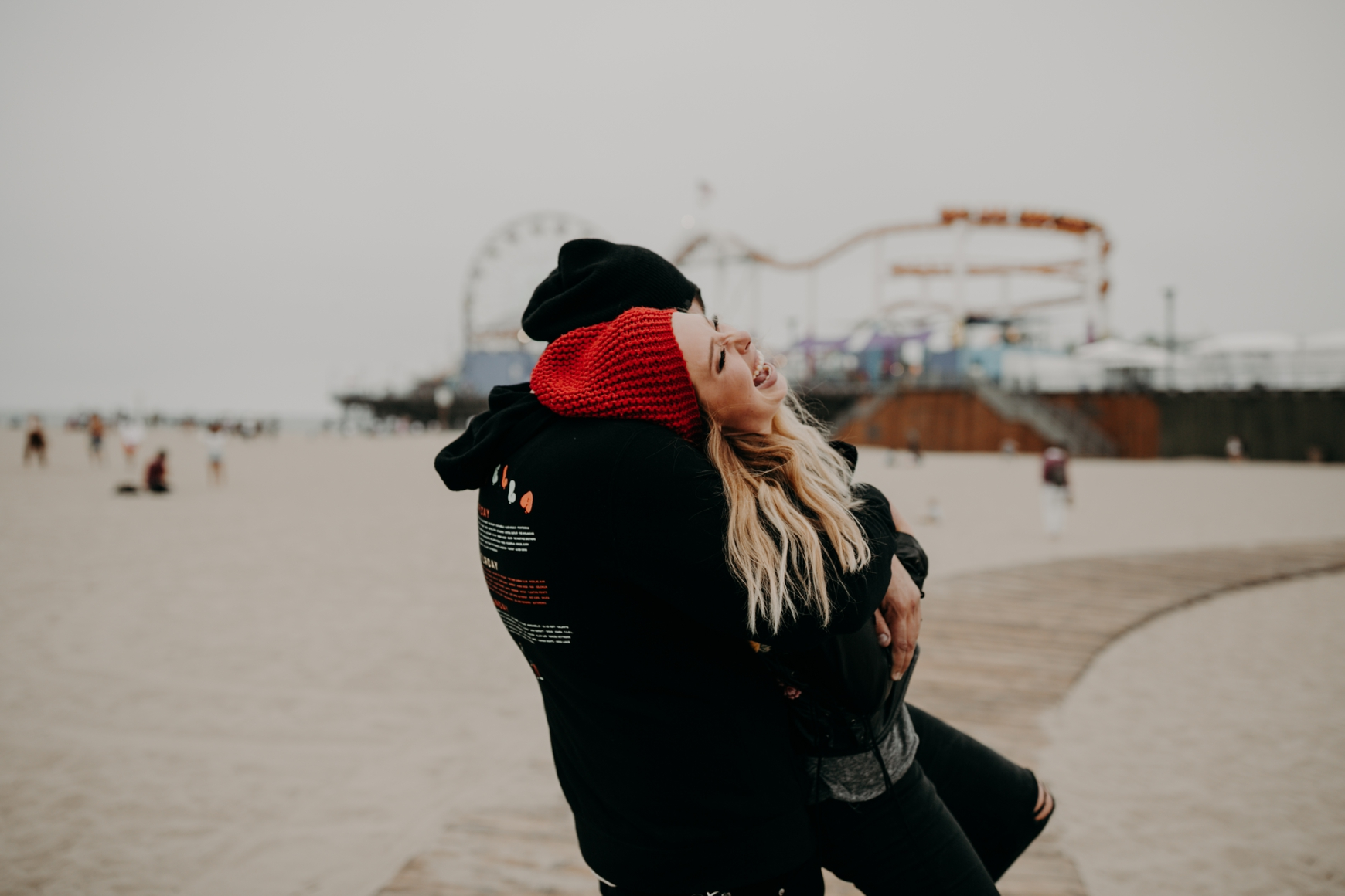 Santa Monica Pier Engagement Loni & Duke Emily Magers Photography-204.jpg