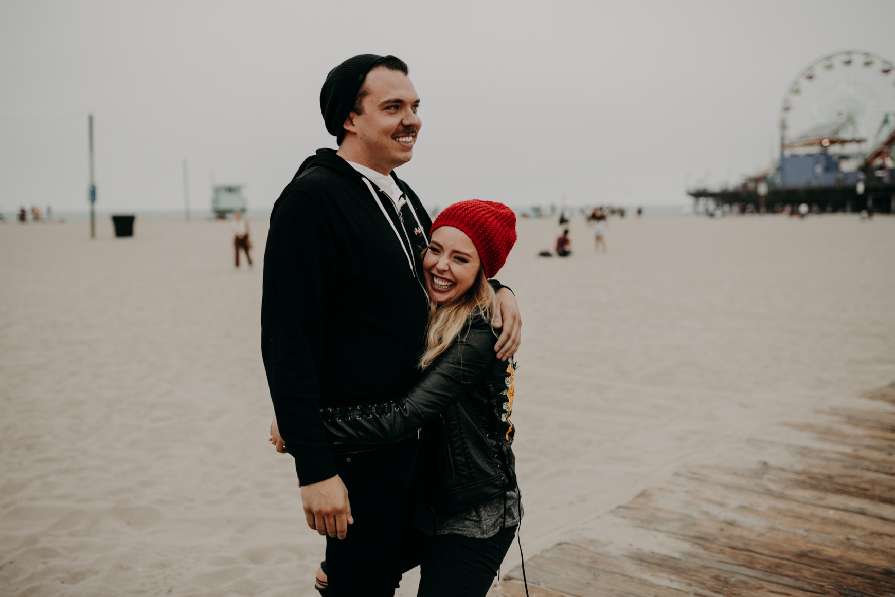 Santa Monica Pier Engagement Loni & Duke Emily Magers Photography-205.jpg