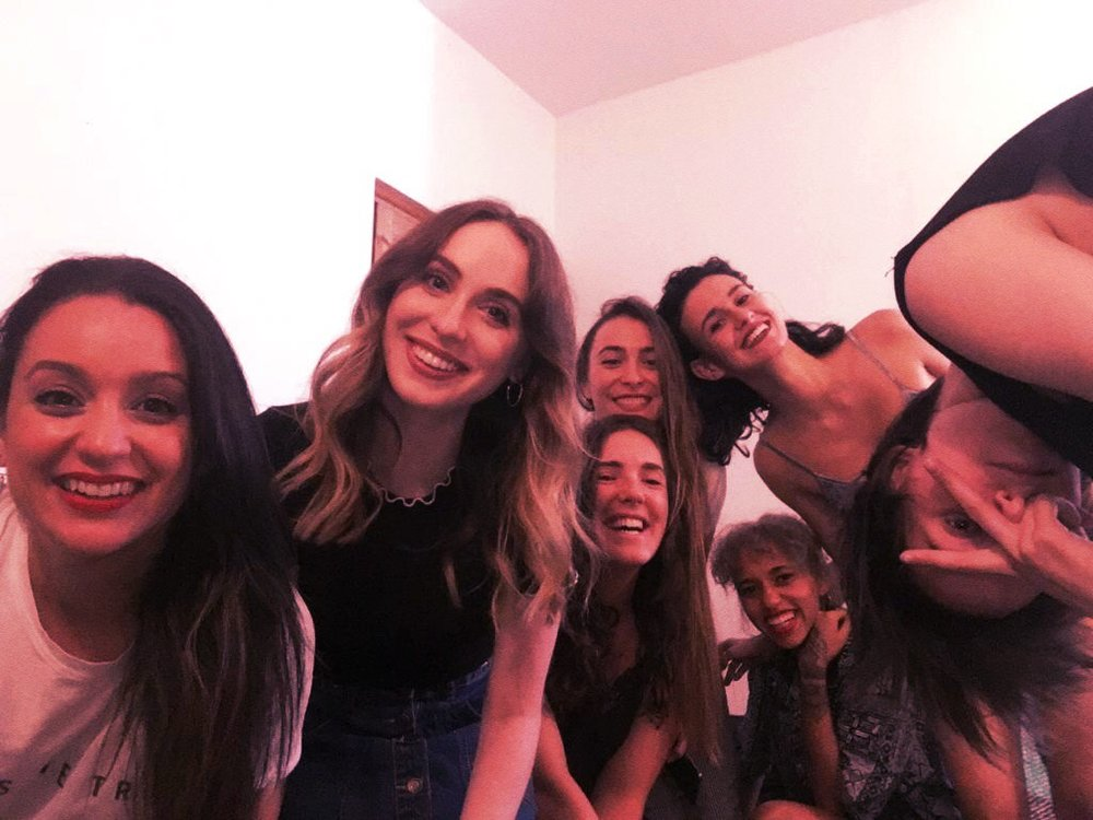Self-timer selfie with all seven of us crammed together. Very dysfunctional. Emphasis on 'Fun.'