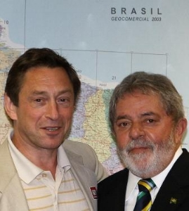 With President Lula of Brazil, June 2010