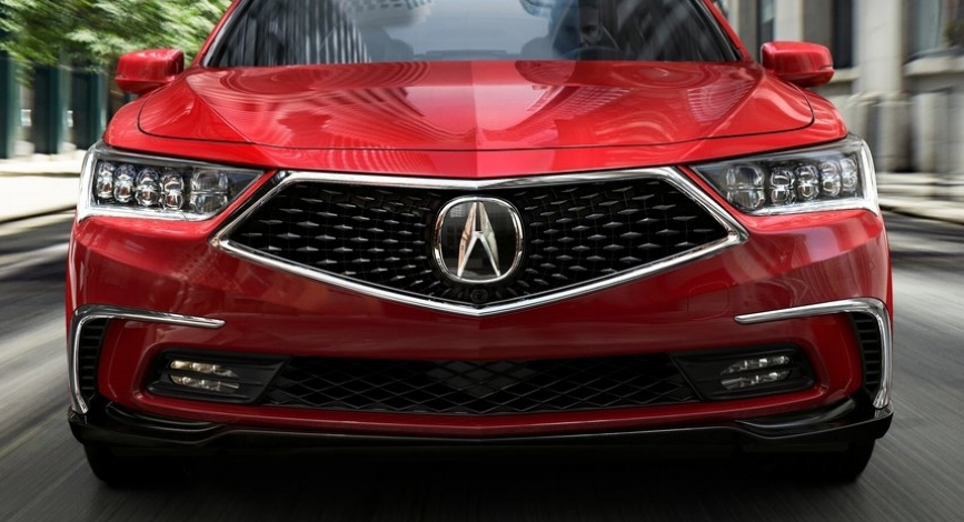 Was the grill enlarged to accommodate the badge? Photo: Acura