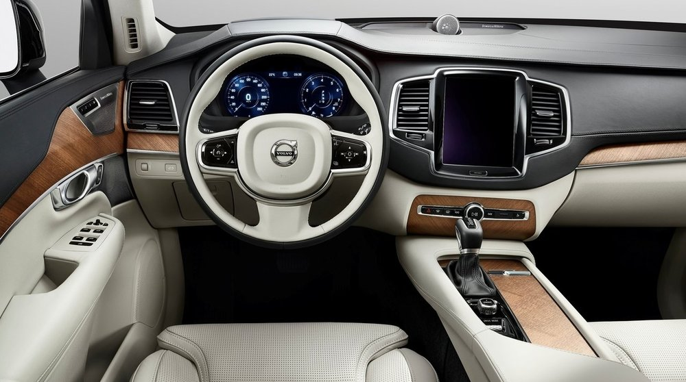 Volvo XC90. Let the wood and leather be the heroes, an aptly Scandinavian approach. Photo: Volvo