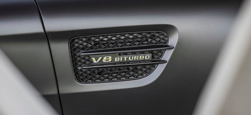 Mercedes AMG GT. Mold-in-color black plastic grill.Photo: Mercedes-Benz