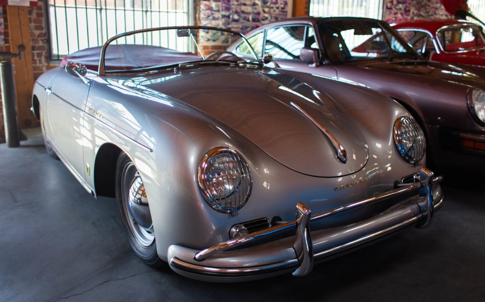 Porsche 356, one unbroken surface from nose to tail, enabled by hand finishing.