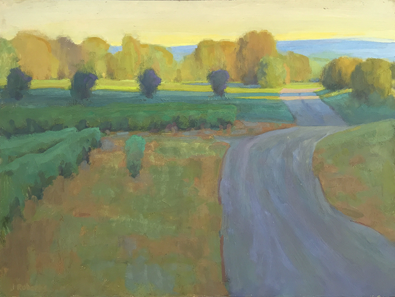 Ian Roberts,   Back towards Caromb,   oil, 20x24 in.