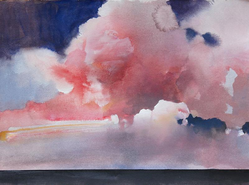 Randall David Tipton,  Over the Sea , watermedia, 11×15 in
