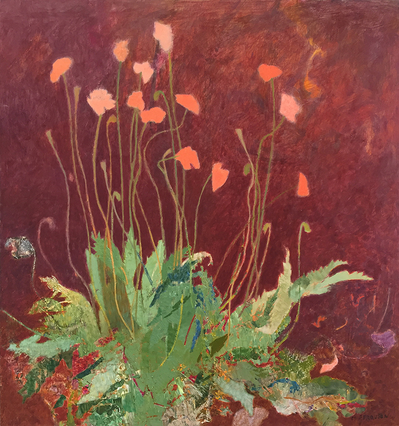 Michael Ferguson, Yard Poppy,  acrylic, 32×30 in.