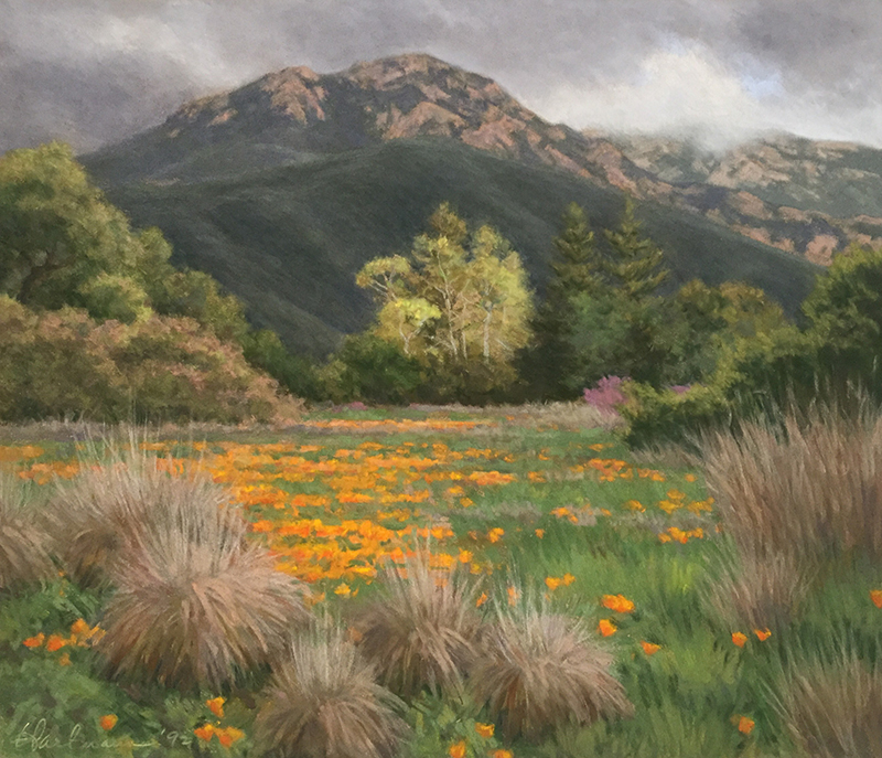 "Glenna Hartmann, ""March Storm,"" pastel, 15×17.5 in."