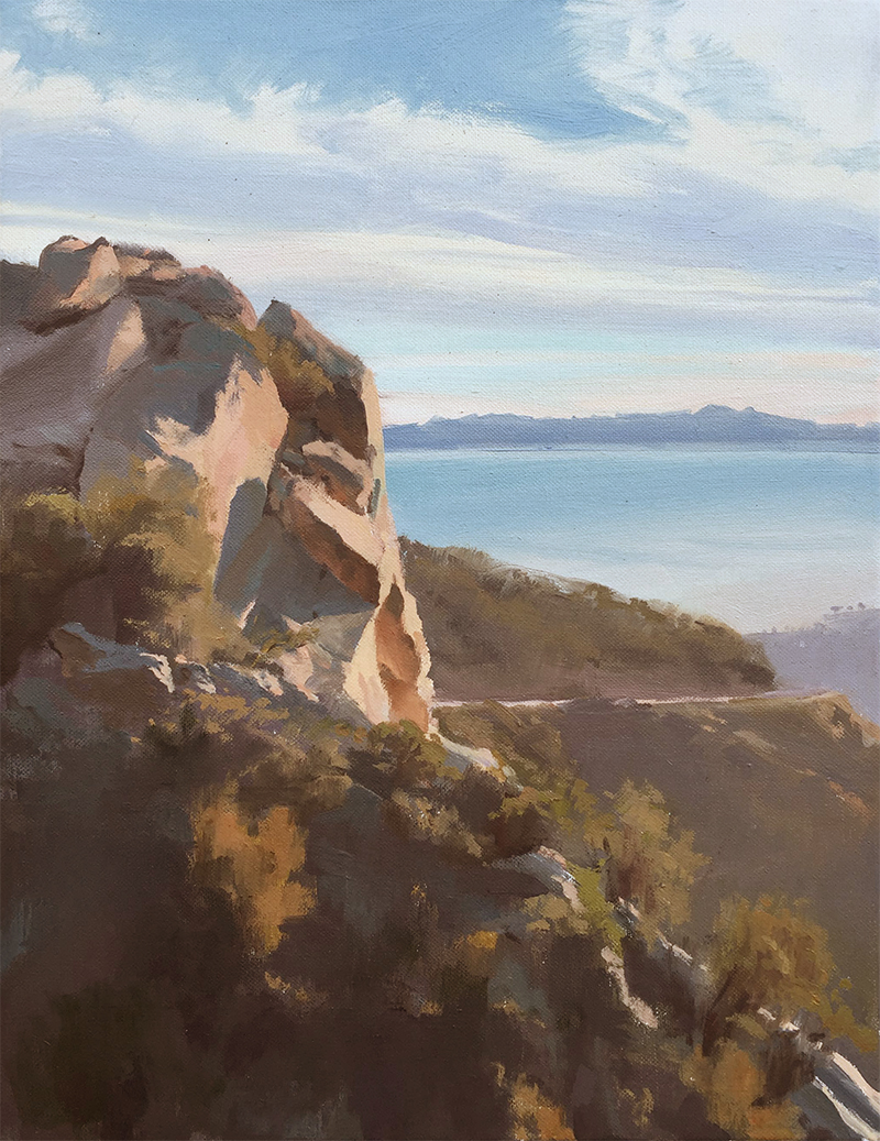Erling Sjovold, Gibraltar Rock, oil, 18×14 in.