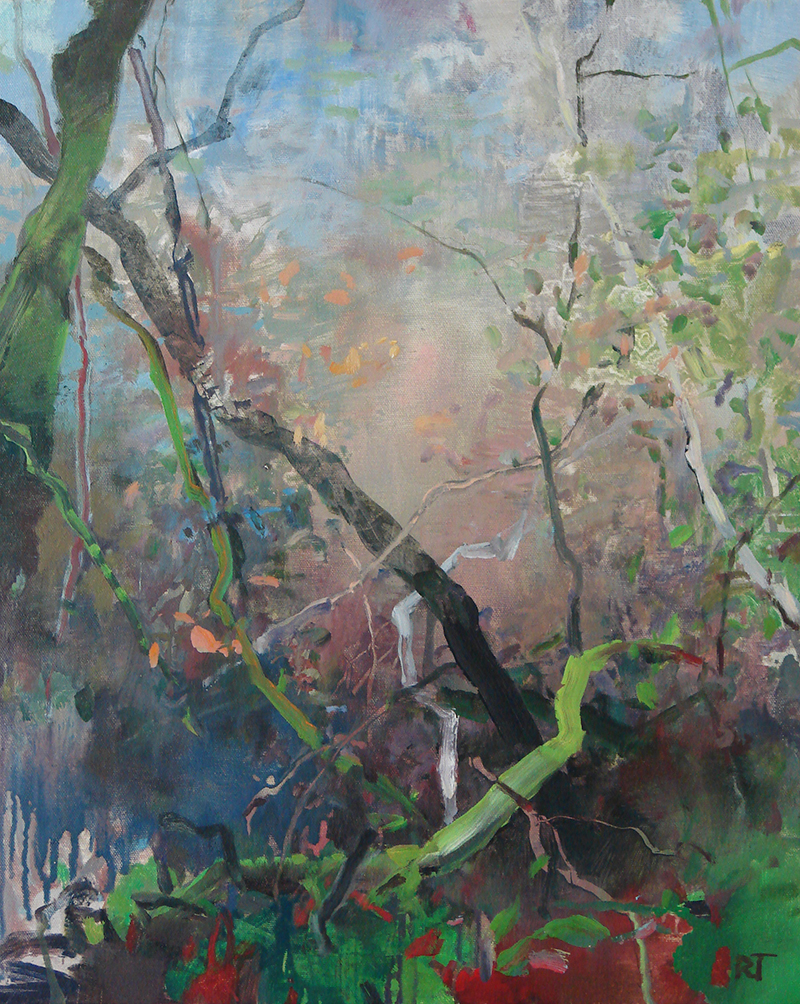 Randall David Tipton,  Rainforest Autumn 2,  oil 20×16 in.