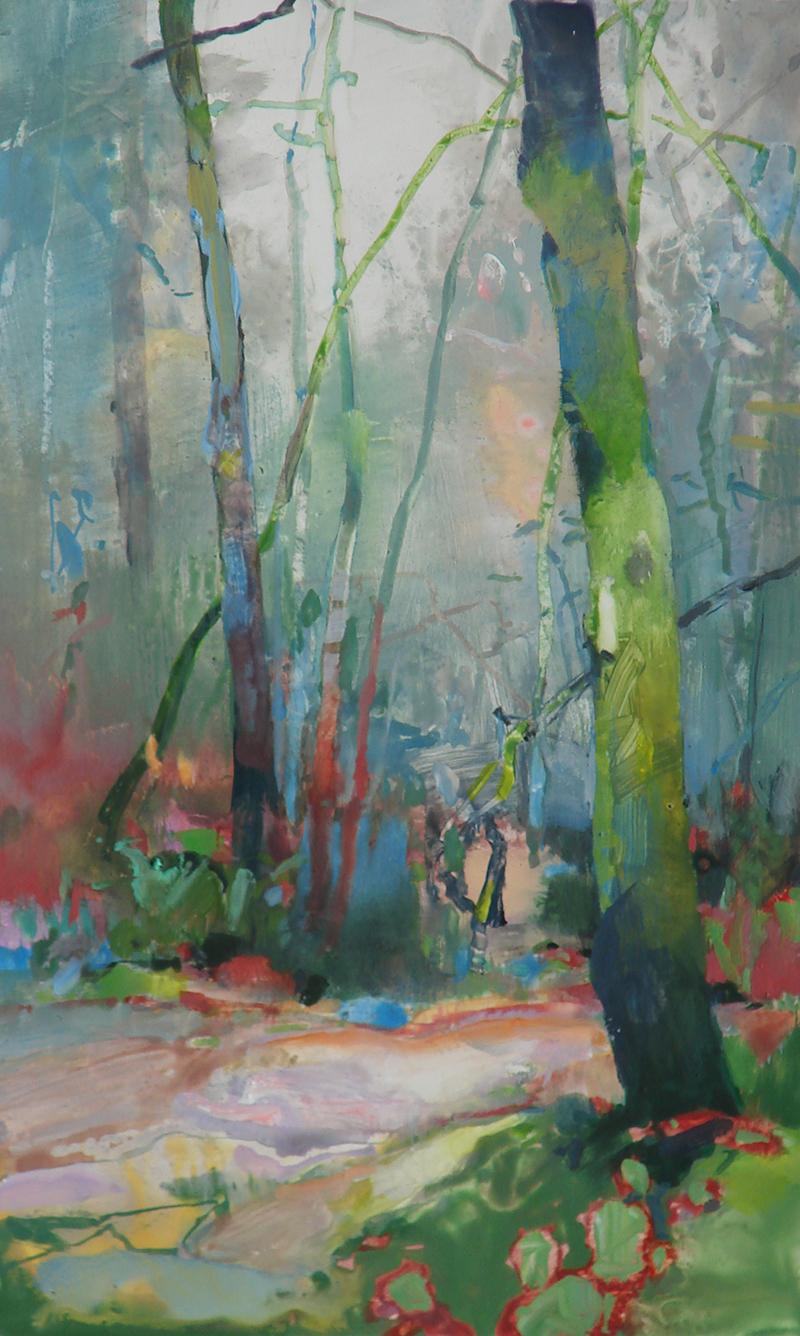 Randall David Tipton   Feuchtwinterwald   watermedia on paper 14.5×9