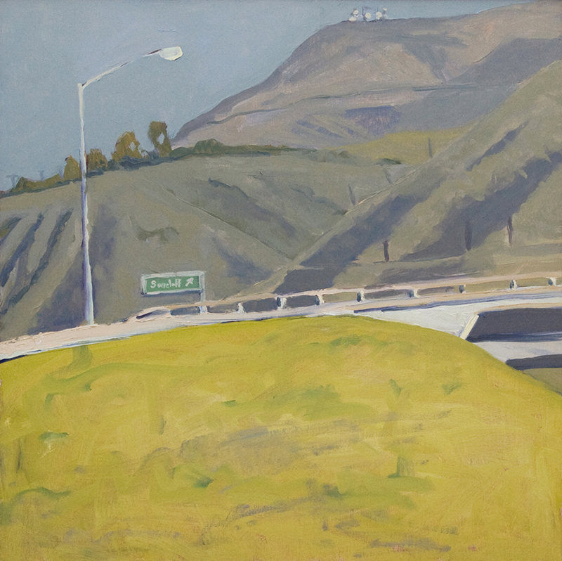 Robert Abbott   Exit and Rincon Mountain   20 x 20 inches oil