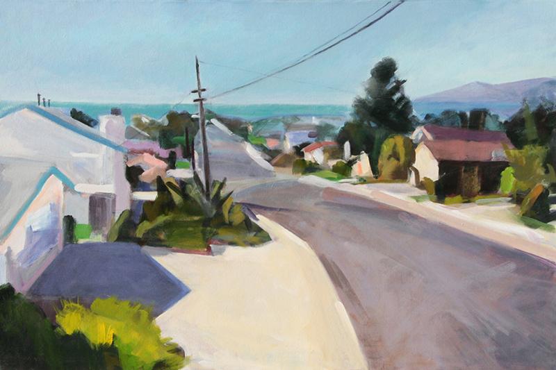 Patricia Doyle   Beach Town   24″ x 36″ acrylic