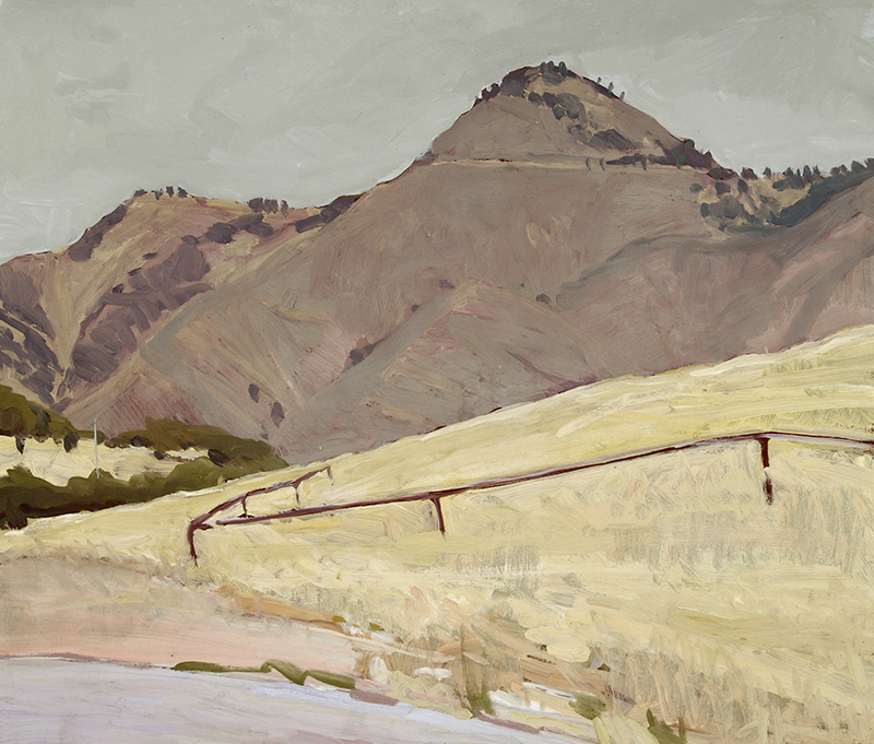 Robert Abbott   ZACA PEAK   24 x 28 inches oil on board