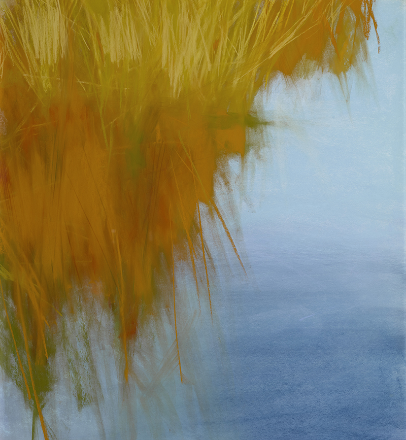 Marilee Krause, Bird Refuge, w/c and pastel, 22×19 in.