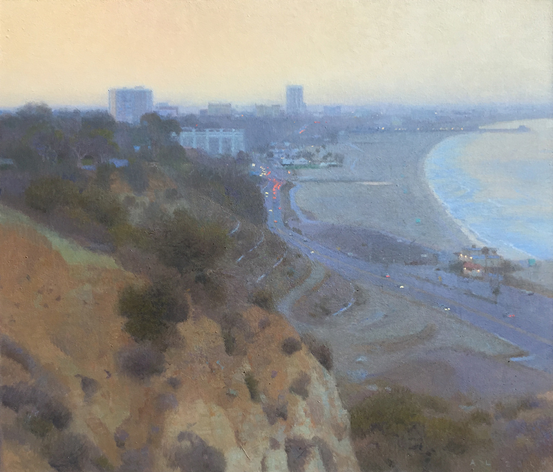 """Ann Lofquist, """"Palisades South View I,"""" oil, 24×28 in."""