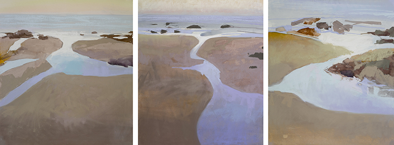 Marilee Krause, Tidal Pools Series, w/c and pastel.