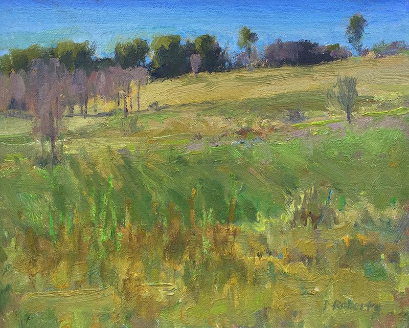 Ian Roberts, St. Auban, oil, 8×10 in.